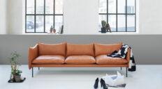 Fogia Tiki sofa i Cognac læder