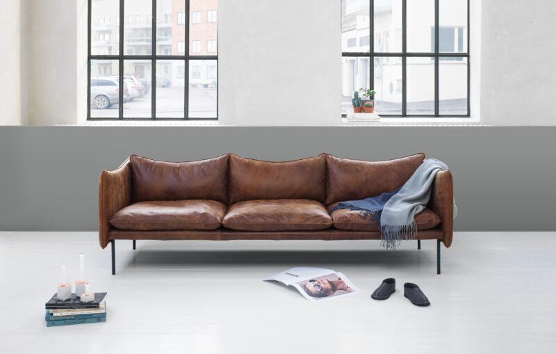 Fogia Tiki sofa i Vintage læder - Aisen møbler