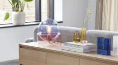Hübsch bordlampe glas blå rosa - Aisen møbler