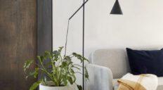 Hübsch gulvlampe metal sort - Aisen møbler