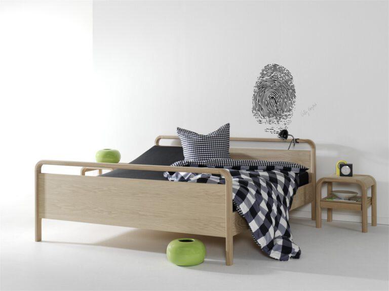Villy Nørgaard dobbeltseng VN 9202 Box Eg - Aisen møbler